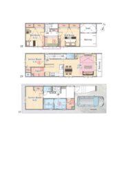 守山区 新築分譲住宅 4LDK+2P+S.I.C+1F 洗面所+L型キッチン+パントリー+吹抜+カウンター+大型バルコニー