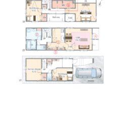 守山区 新築分譲住宅 4LDK+P+2F 水廻り集約+大型W.I.C(ファミリークローク)+2バルコニー