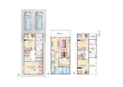 新築分譲住宅 守山区 4LDK+2P+1F 共用収納 水廻り集約+吹抜+2バルコニー